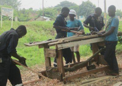 Expansion carpentry training in Uganda