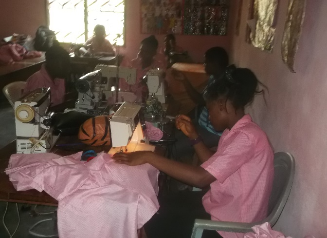 Vocational training for teenage mothers in Cameroon