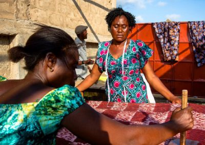 Batik training for people with disabilities in Tanzania
