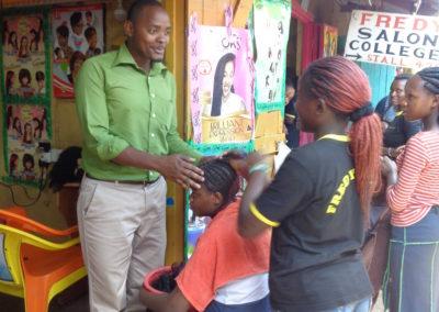 Set up of training program in Mathare slum area in Kenya