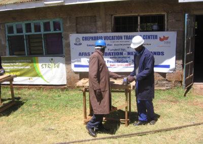 School furniture for craft school in Kenya