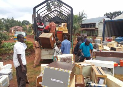 Materials and furniture for training centre in Uganda